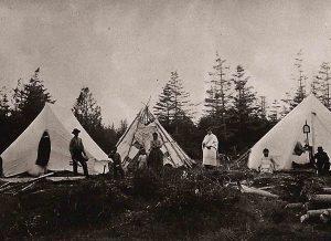 Passamaquoddy encampment at Indian Point, Qonaskamkuk