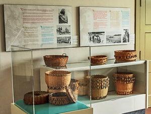 baskets by Peskotomuhkati people